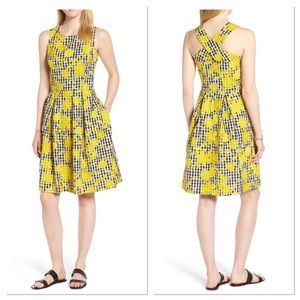 1901 Embroidered Gingham Fit & Flare Dress (E)